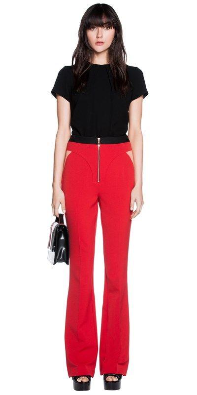 Pants | Double Weave Spliced Flare Pants