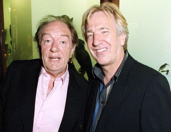 """Michael Gambon & Alan Rickman - 2004, I think ... around the time """"Harry Potter and the Prisoner of Azkaban"""" premiered"""