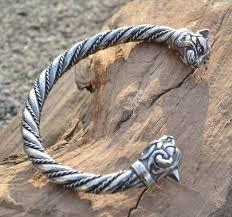 Resultado de imagem para silver bracelet viking