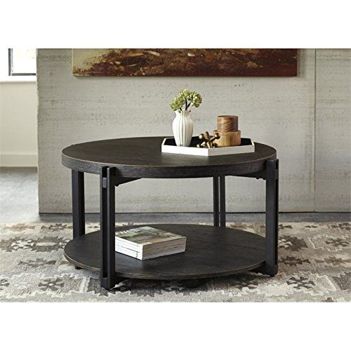 Ashley Winnieconi Round Coffee Table In Black Read More Reviews