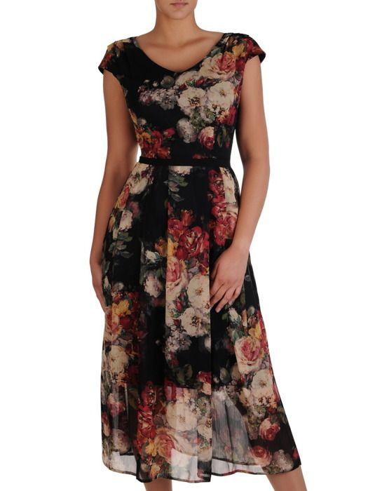 Sukienka Damska 17140 Dluga Kreacja W Kwiaty Sklep Online Modbis Pl Summer Dresses Dresses Dresses With Sleeves