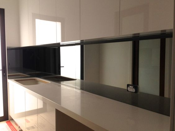 Küchenrückwand Glas schöne Motive Natur Insel Bild Ideen rund - lackiertes glas küchenrückwand