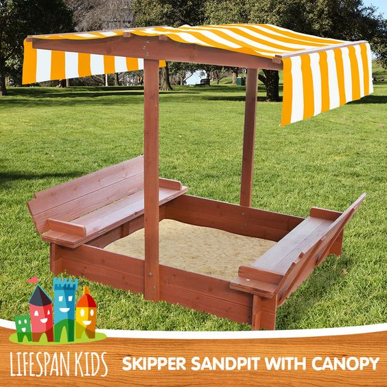 LIFESPAN LATEST SAND PIT OUTDOOR KIDS WOODEN TOY SANDPIT WITH CANOPY | Toys | Pinterest | Sand pit and Canopy & LIFESPAN LATEST SAND PIT OUTDOOR KIDS WOODEN TOY SANDPIT WITH ...