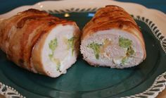 Bacon Wrapped Broccoli & Cheese Stuffed Chicken