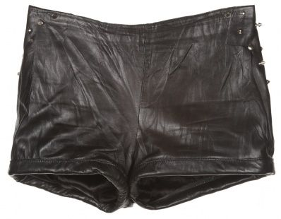 recycled vintage leather studded shorts $40