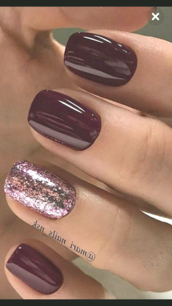 Burgundy Is One Of The Trendiest Nail Colors To Wear For The