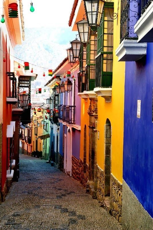 La Paz, Bolivia... A beautiful city! Other top spots to see in South America.. Swing in Banos looks amazing!
