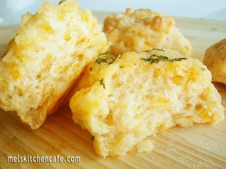 Cheddar and herb biscuits.
