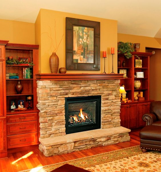 Raised Hearth Fireplace Designs: Fireplaces, Hearth And Mantel Shelf On Pinterest