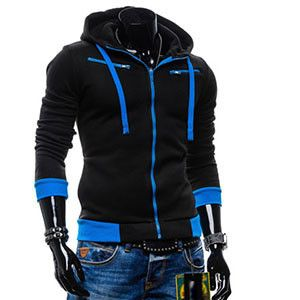 Men Casual Sportswear Man Hoody Zipper Long-sleeved Sweatshirt