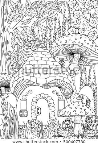 Find Landscape Coloring Page Stock Vectors And Millions Of Other Royalty Free Stock Photos Illustrations A Fairy Coloring Pages Coloring Books Coloring Pages