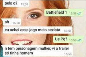 Cade as mulheres no Battlefield 1?