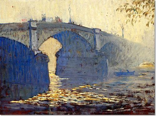 Daniel Garber - Battersea Bridge Painting