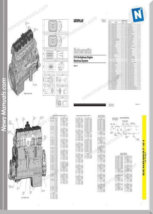 Caterpillar C15 On Highway Schematic 003255 Circuit Design Caterpillar Repair Guide