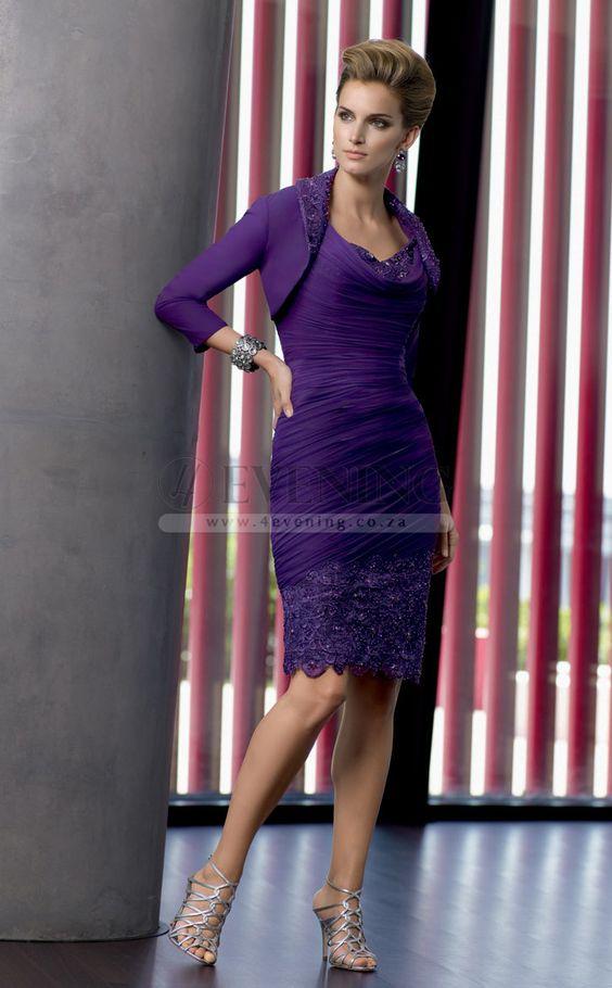 Chic Regency Cowl Column/Sheath Evening Dress(JT4E-0610)