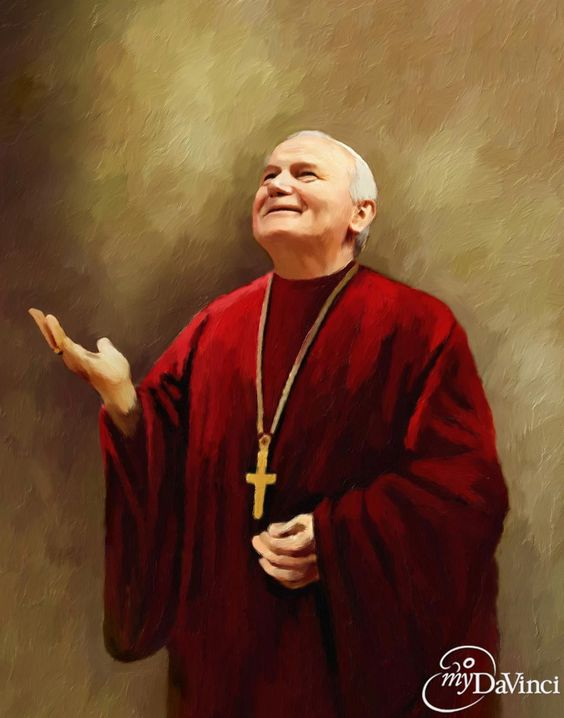 St.Pope John Paul II oil painting, | CF Saint John Paul II ...