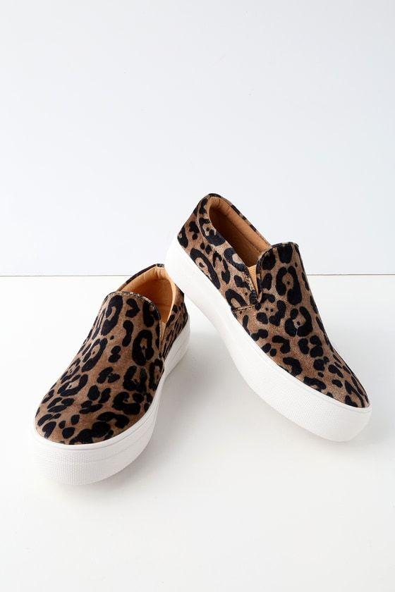 Gills Leopard Print Flatform Sneakers