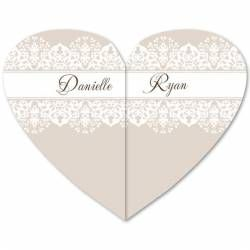 New Dawn Folded Heart in Taupe