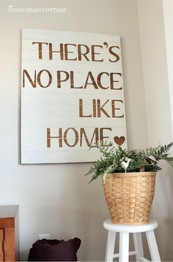 DIY Sign   The Wood Grain Cottage....this becomes especially true as a military family