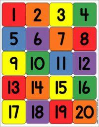Numbers 1-20 | crafts & diy | Pinterest | Charts, Printable ...