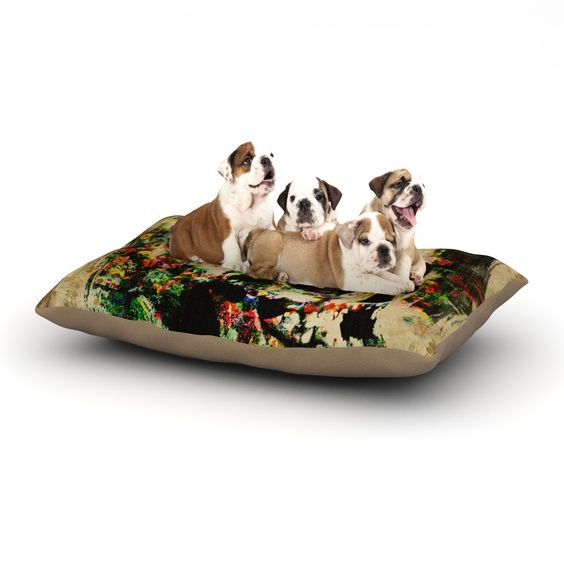 "Frederic Levy-Hadida ""Floral Skully"" Dog Bed"