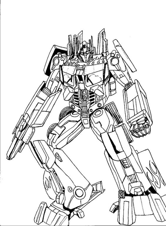 optimus prime animated coloring pages | Optimus Prime Cartoon Robbot Coloring Pages Transformers ...