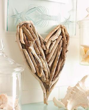 Make a driftwood heart