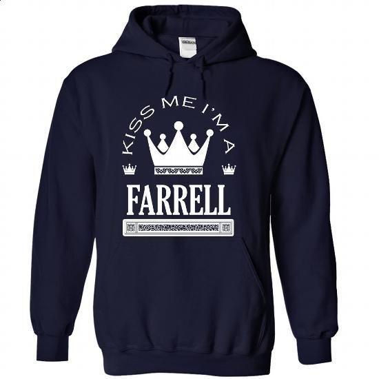 Kiss Me I Am FARRELL - #striped shirt #sweatshirts for men. PURCHASE NOW => https://www.sunfrog.com/Names/Kiss-Me-I-Am-FARRELL-ysrfwbpcgv-NavyBlue-42100233-Hoodie.html?id=60505