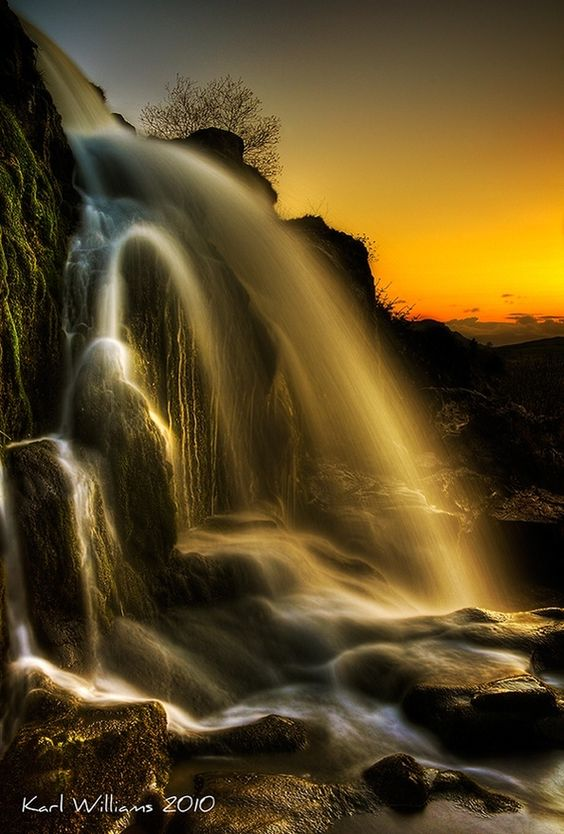 HDR photography:  Sunset Spray, Karl Williams