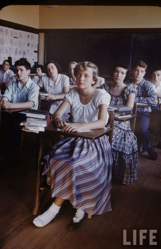 school life in the 1950s They waged a long struggle to eliminate racial discrimination and segregation from american life  the brown v board of  law school denied.
