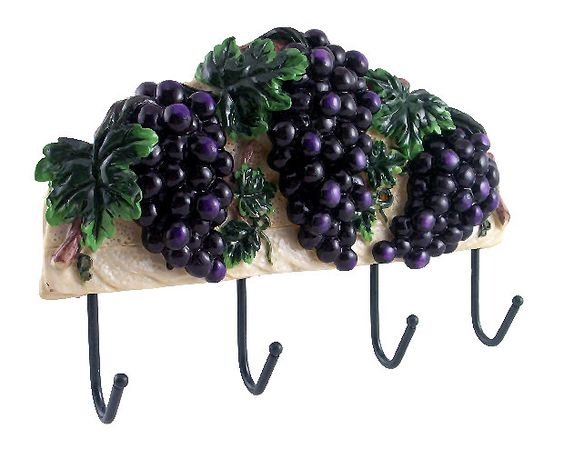 Grape Wall Decorations Wall Decor Plaque Grape Tuscany Wine Wrought Iron Hook Grape Kitchen