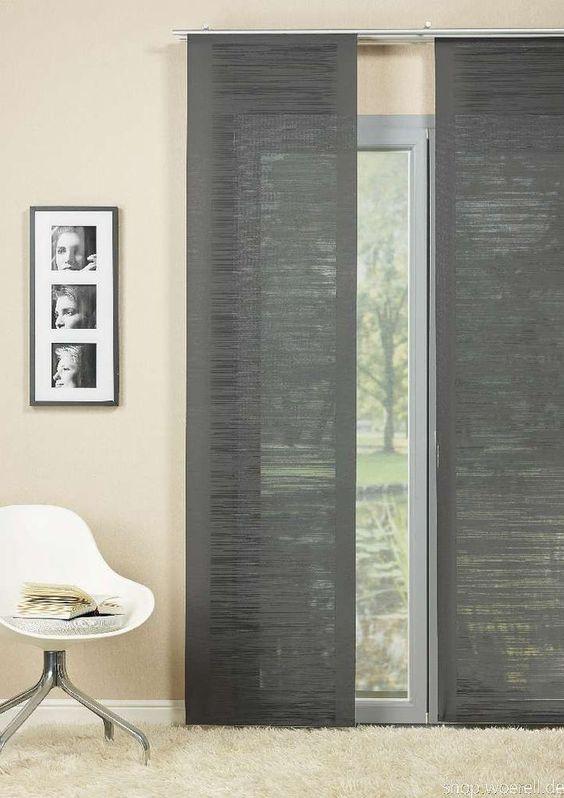 fl chenvorhang mito 842101 97 grau inkl technik. Black Bedroom Furniture Sets. Home Design Ideas