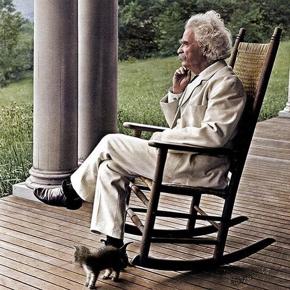 Mark Twain deep in thought. And a kitten too. 🐱 1906. #history #history101 #historicphoto #literature #americanhistory #historygeek #historybuff #americanliterature #vintagephoto