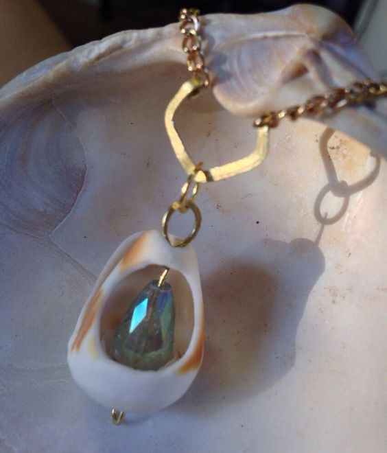 All in Aqua - Shell Necklace