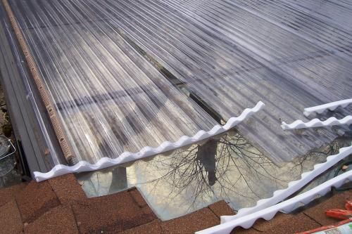 Palruf 26 In X 12 Ft Clear Pvc Roofing Panel 100427 The Home Depot Pvc Roofing Roof Panels Polycarbonate Roof Panels