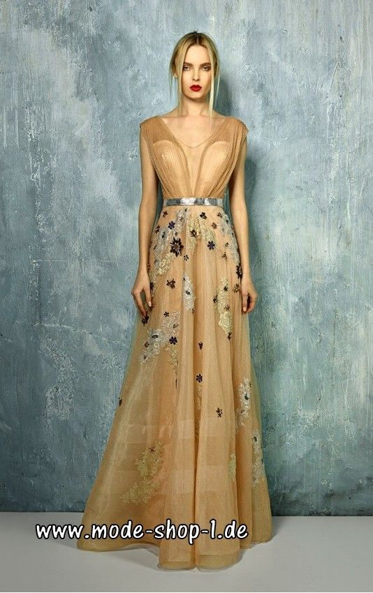 Abendkleid 2018 In Beige Mit Blumen Trend Auswahl Gunstige Marken Bestellen Sie Bequem Bei Mode Shop 1 De Im Shop Abendkleid Kleider Mode