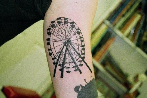 Pinterest the world s catalog of ideas for Ferris wheel tattoo