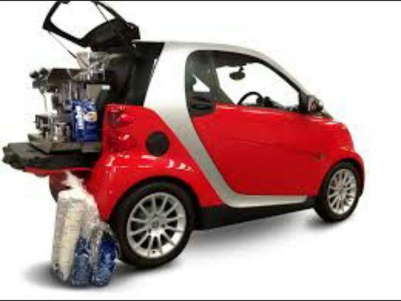 Smart car coffee cart