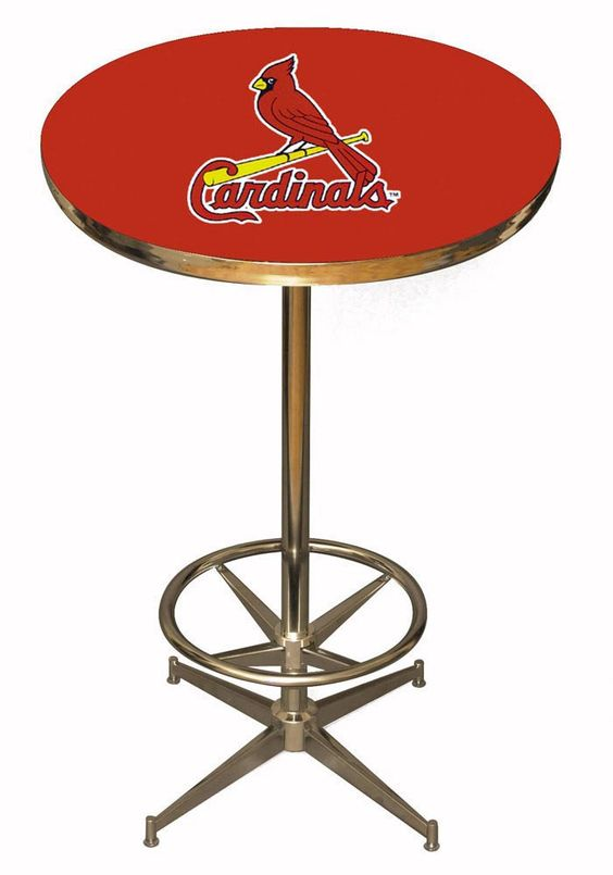 St. Louis Cardinals (STL) Pub Table- Man Cave Furniture http://www.rallyhouse.com/shop/st-louis-cardinals-st-louis-cardinals-pub-table-man-cave-furniture-1937020 $499.99
