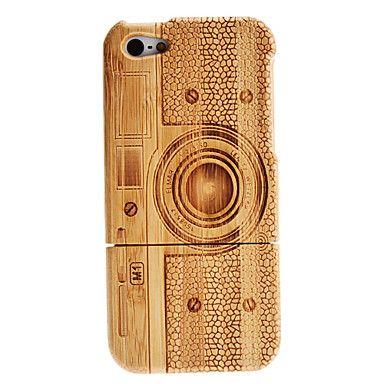 Patrón Retro Cámara desmontable Caja de madera para el iPhone 5 – USD $ 16.99