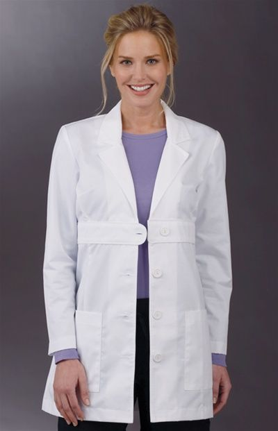 Med Couture Women&39s Belted 33&quot Lab Coat | Ps Lab coats and Labs