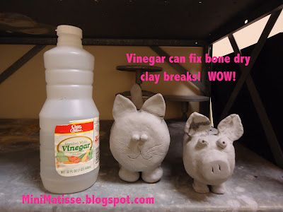 Vinegar can fix bone dry clay