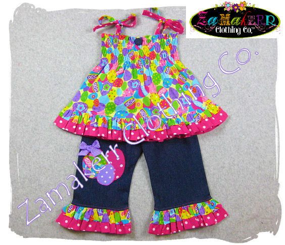 Girl Easter Outfit Toddler Baby Easter Ruffle Pant Set
