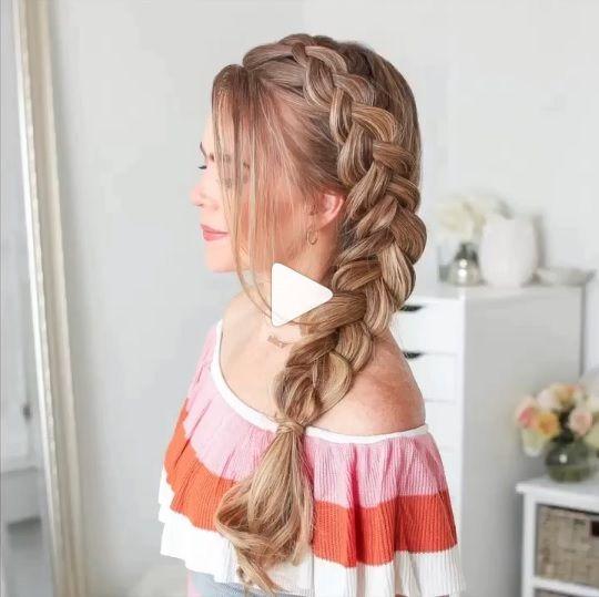 Braid Easy Method For Everyone Braid Hairstyle Try Hair Styles Loose Hairstyles Long Hair Styles