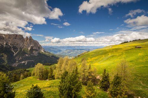 Seiser Alm und Schlern Bolzano Südtirol Italien