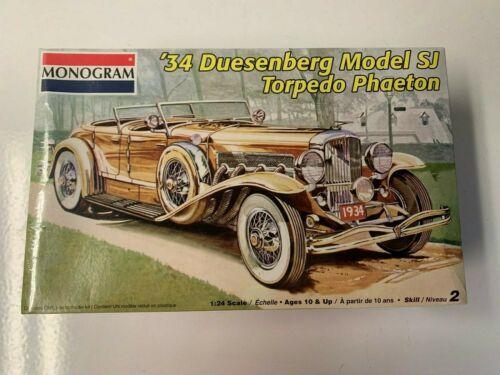 1 25 Monogram 34 Duesenberg Sj Torpedo Phaeton Plastic Car Model