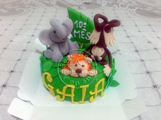 mini bolo safari/safari mini cake
