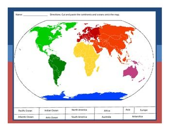 The Physical World Continents And Oceans Worksheet Wiildcreative - The physical world continents and oceans