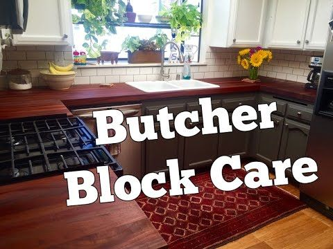 how to take care of butcher block countertops butcher