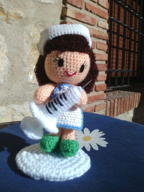 Enfermera amigurumi Mis creaciones en crochet ...